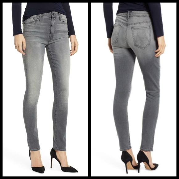 MOTHER Denim - 💕MOTHER💕 High Waisted Looker Skinny Jeans Gray